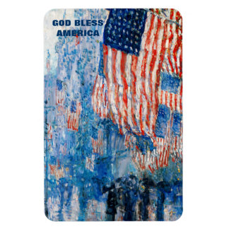 God Bless America. Fine Art  Patriotic Gift Magnet