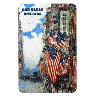 God Bless America. Fine Art  Patriotic Gift Magnet Magnets