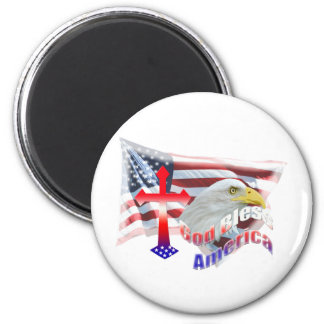 God Bless America Flag Refrigerator Magnets