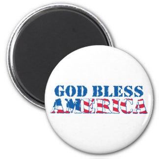 God Bless America (flag) Refrigerator Magnet