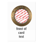 God Bless America Gold Photo Frame Pack Of Chubby Business Cards