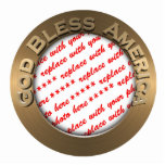 God Bless America Gold Photo Frame Cut Outs