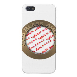 God Bless America Gold Photo Frame iPhone 5 Case