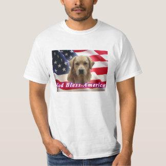 God Bless America Golden Retriever T-Shirt