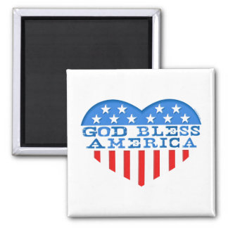 God Bless America Heart Refrigerator Magnets