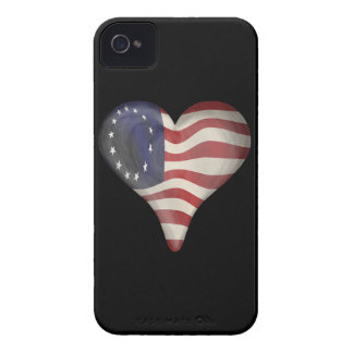 God Bless America In A Heart Blackberry Cases