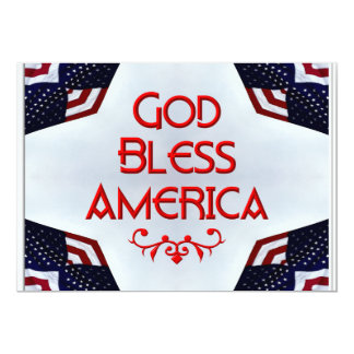 God bless America 13 Cm X 18 Cm Invitation Card