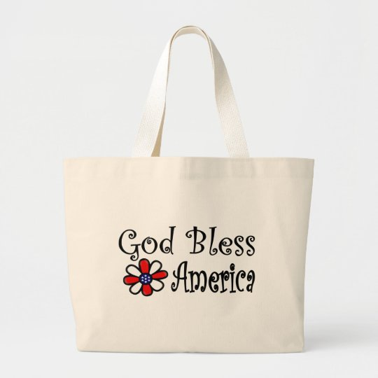 God Bless America Large Tote Bag