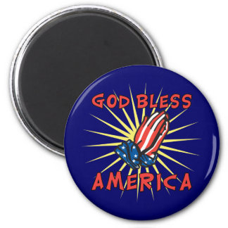 God Bless America Refrigerator Magnet