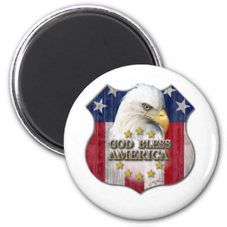 God Bless America Refrigerator Magnets