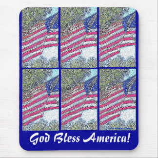 GOD BLESS AMERICA MOUSEPADS