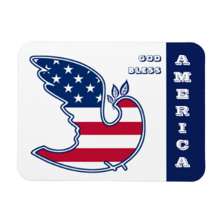 God Bless America. Patriotic Design Gift Magnets
