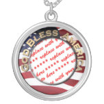 God Bless America Patriotic Photo Frame