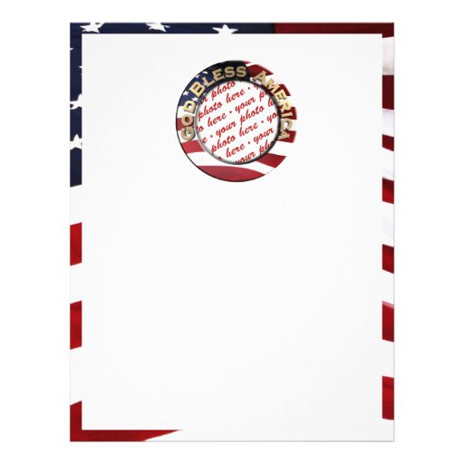 God Bless America Patriotic Photo Frame 21.5 Cm X 28 Cm Flyer