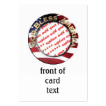 God Bless America Patriotic Photo Frame Pack Of Chubby Business Cards