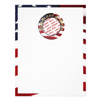 God Bless America Patriotic Photo Frame Full Color Flyer