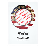 God Bless America Patriotic Photo Frame 13 Cm X 18 Cm Invitation Card