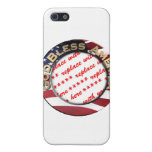God Bless America Patriotic Photo Frame Case For The iPhone 5