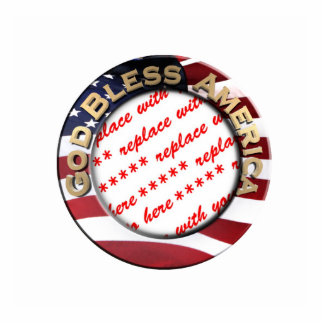 God Bless America Patriotic Photo Frame Photo Cut Outs