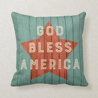 God Bless America Pillow