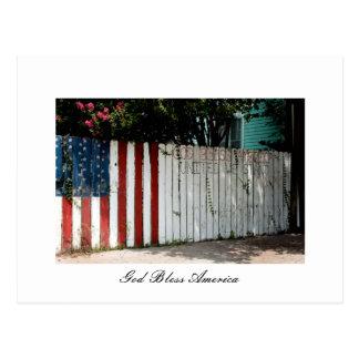 God Bless America Postcard