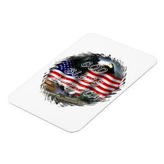 God bless america Premium Magnet (2) sizes Rectangular Magnets