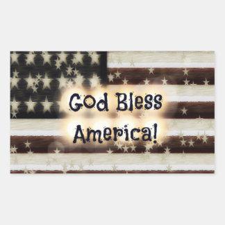 God Bless America! Rectangular Sticker