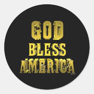 God Bless America Round Sticker