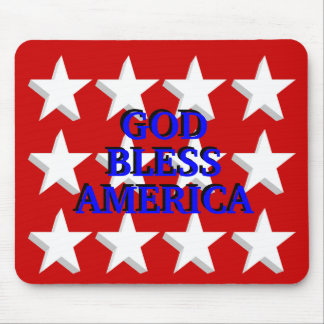 God Bless America - shadowed Mouse Pad
