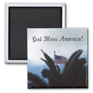 God Bless America! Square Magnet