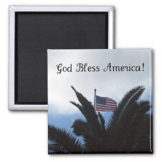 God Bless America! Square Magnet