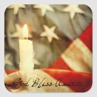 God Bless America Square Sticker