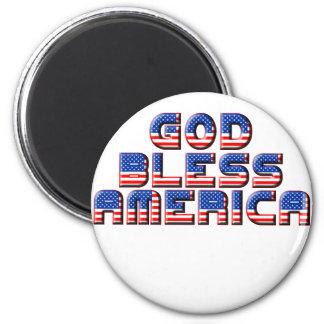 God Bless America Text Design Refrigerator Magnets
