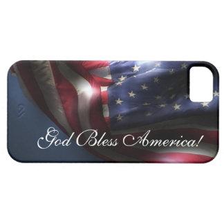 God Bless America!-U.S. Flag iPhone 5 Case