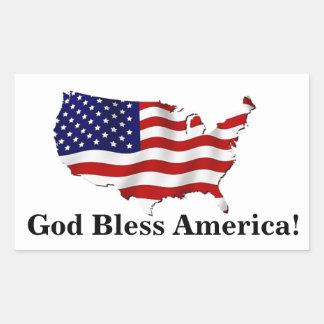 God Bless America United States Flag Sticker