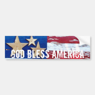 God Bless America USA Flag Bumper Sticker Art