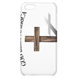 GOD BLESS AMERICA with rugged cross iPhone 5C Case