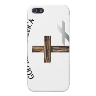 GOD BLESS AMERICA with rugged cross Covers For iPhone 5