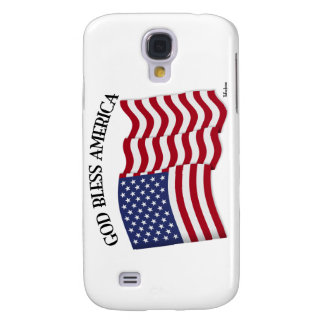 GOD BLESS AMERICA with US flag Samsung Galaxy S4 Case
