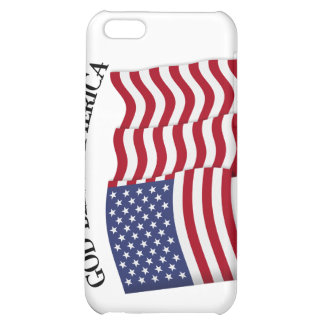 GOD BLESS AMERICA with US flag iPhone 5C Cases