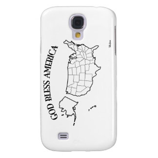 GOD BLESS AMERICA with US outline Galaxy S4 Covers