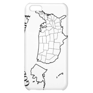 GOD BLESS AMERICA with US outline iPhone 5C Cover