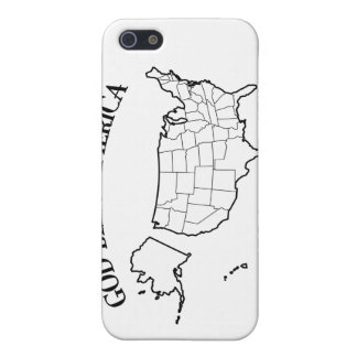 GOD BLESS AMERICA with US outline Case For iPhone 5
