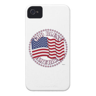 God Bless America With USA Flag And 50 Stars Case-Mate iPhone 4 Case