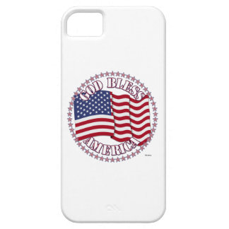 God Bless America With USA Flag And 50 Stars iPhone 5 Cover