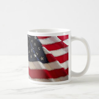 God Bless American Flag mug