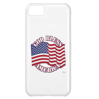 God Bless American with USA Flag Case For iPhone 5C