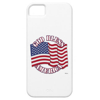 God Bless American with USA Flag iPhone 5 Cases