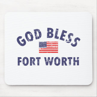 God bless FORT WORTH Mousepads