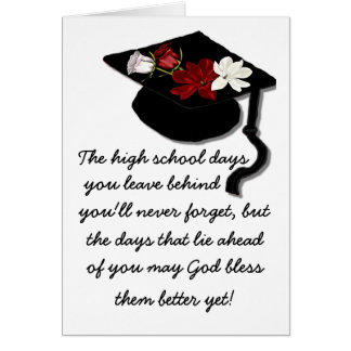 God Bless Graduation Greeting Card